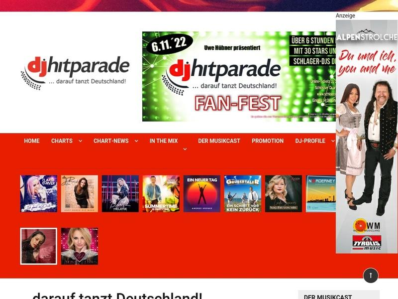 Screenshot von www.hitparadies.de